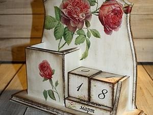 """Вечный календарь """"Живые розы"""". Ярмарка Мастеров - ручная работа, handmade."""