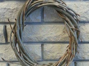 Венок из лозы вербы — от заготовки до плетения. Ярмарка Мастеров - ручная работа, handmade.