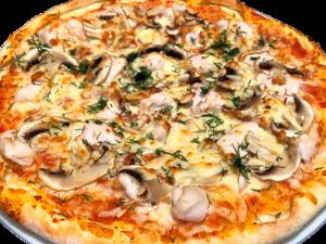 Тонкая Пицца с курицей и грибами. Видео-рецепт. Ярмарка Мастеров - ручная работа, handmade.