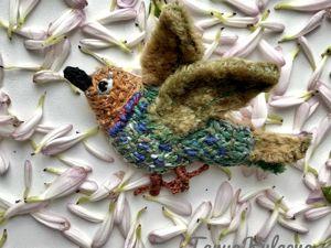 Птички невелички текстильные броши. Ярмарка Мастеров - ручная работа, handmade.