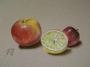 Видео мастер-класс: рисуем фрукты сухой пастелью. Ярмарка Мастеров - ручная работа, handmade.