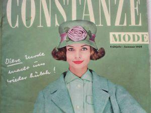 Constanze -mode -старый журнал мод из Германии -Весна- Лето 1959. Ярмарка Мастеров - ручная работа, handmade.