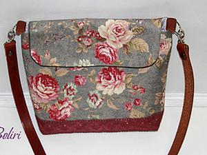 Текстильная  сумка-почтальон. Ярмарка Мастеров - ручная работа, handmade.