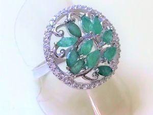 Видеоролик: Кольцо с натуральными изумрудами  «Зеленая лоза». Ярмарка Мастеров - ручная работа, handmade.