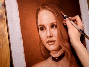 Как нарисовать женский портрет. Часть 2. Объем и фактура. Ярмарка Мастеров - ручная работа, handmade.
