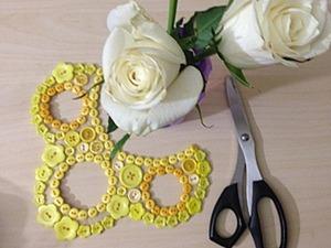 Мастерим фетровое ожерелье из пуговиц. Ярмарка Мастеров - ручная работа, handmade.