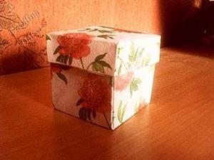 Бумажная коробочка. Ярмарка Мастеров - ручная работа, handmade.