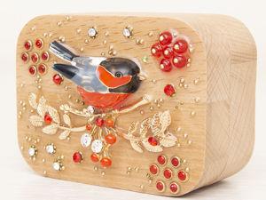 Шкатулка для украшений  «Снегирь». Ярмарка Мастеров - ручная работа, handmade.