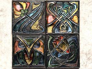 Декорируем плитку в стиле Арт-Нуво. Ярмарка Мастеров - ручная работа, handmade.