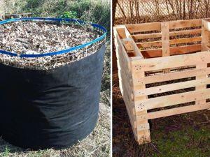 Сравнение компостной кучи из стеклосетки и необработанного дерева. Ярмарка Мастеров - ручная работа, handmade.