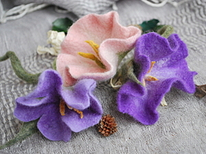 Мастер-класс по валянию цветка «Вьюнок». Ярмарка Мастеров - ручная работа, handmade.