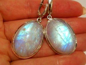 Серьги«Дивия»лунный камень адуляр,серебро 925 ручная работа. Ярмарка Мастеров - ручная работа, handmade.