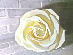 Как сделать ростовую розу из фоамирана. Ярмарка Мастеров - ручная работа, handmade.