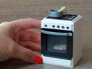 Делаем из полимерной глины и картона миниатюрную газовую плиту для кукольного домика: видео мастер-класс. Ярмарка Мастеров - ручная работа, handmade.