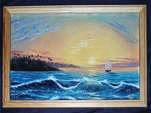 Мастер-класс: морской пейзаж маслом. Ярмарка Мастеров - ручная работа, handmade.