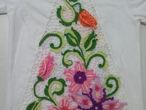 Цветочная композиция в технике ирландского кружева для декорирования одежды. Ярмарка Мастеров - ручная работа, handmade.