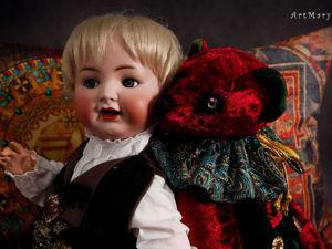 Мишка и Антошка, оlному сто лет, другому один день). Ярмарка Мастеров - ручная работа, handmade.