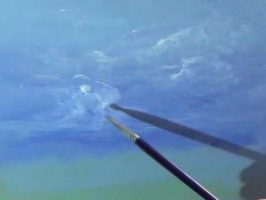 Простой способ нарисовать небо и облака масляными красками. Видео мастер-класс. Ярмарка Мастеров - ручная работа, handmade.