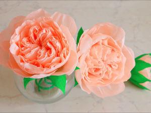 Создаем интерьерные розы из креповой бумаги: видео мастер-класс. Ярмарка Мастеров - ручная работа, handmade.