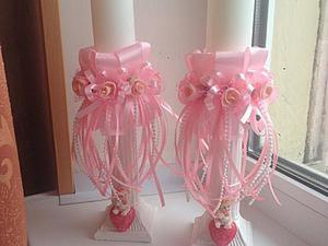 Декорируем свечи — подарок на крещение для девочки. Ярмарка Мастеров - ручная работа, handmade.