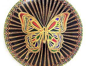 Декорируем тарелку «Бабочка». Ярмарка Мастеров - ручная работа, handmade.