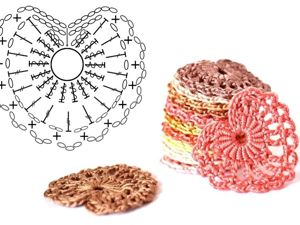 Сердечки крючком схемы — идеи для вязания. Ярмарка Мастеров - ручная работа, handmade.