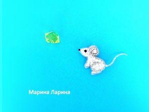 Создаем брошь  «Мышь»  из бисера. Ярмарка Мастеров - ручная работа, handmade.