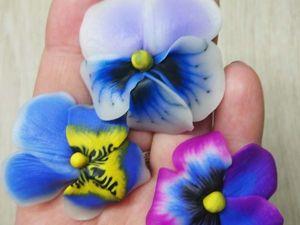 Видеоурок: лепим из полимерной глины трости для цветов анютины глазки. Ярмарка Мастеров - ручная работа, handmade.