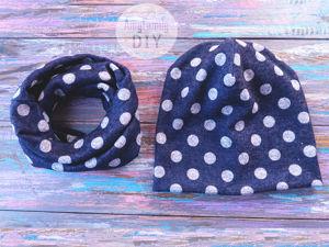 Шьем шапку бини и шарф снуд за пол часа без выкройки. Ярмарка Мастеров - ручная работа, handmade.