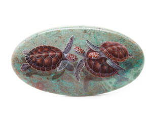Аукцион: Черепахи на хризоколле. Ярмарка Мастеров - ручная работа, handmade.