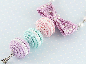 How to Crochet Sweet French Macarons. Livemaster - handmade