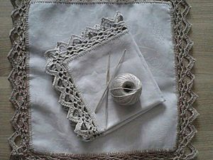 Crocheting Round the Edge of a Napkin. Livemaster - handmade