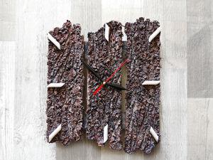 Мастерим часы своими руками. Имитация коры из бумаги. Ярмарка Мастеров - ручная работа, handmade.