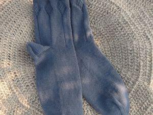 Скидка на вязаные мужские носки Маренго 25%. Ярмарка Мастеров - ручная работа, handmade.