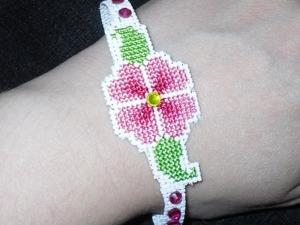 Как сделать браслет с вышивкой «Весеннее настроение». Ярмарка Мастеров - ручная работа, handmade.