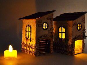 Видео мастер-класс: чайный домик из картона с отделкой шпатлевкой. Ярмарка Мастеров - ручная работа, handmade.
