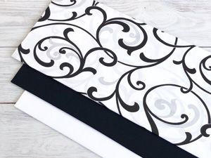 Чёрно-белые узоры с компаньонами. Ярмарка Мастеров - ручная работа, handmade.