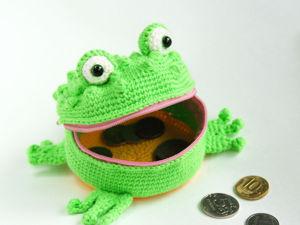 Детский кошелек Лягушка-Квакушка. Ярмарка Мастеров - ручная работа, handmade.