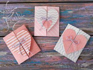 Мастерим конверт-открытку с сердечком. Ярмарка Мастеров - ручная работа, handmade.