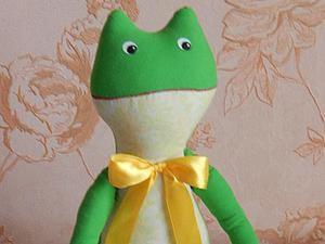 Шьем забавную лягушку. Ярмарка Мастеров - ручная работа, handmade.