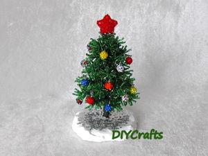 Создаем новогоднюю ёлку из бисера. Ярмарка Мастеров - ручная работа, handmade.