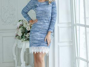 Аукцион на Меланжевое вязаное платье! Старт 3000 руб.!. Ярмарка Мастеров - ручная работа, handmade.