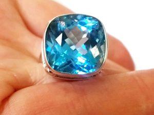Видео кольца «Celestia»голубой топаз swiss blue,серебро 925 ручная работа. Ярмарка Мастеров - ручная работа, handmade.