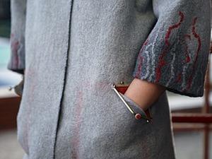 «Чудной кармашек»: делаем необычный карман с фермуарной застежкой. Ярмарка Мастеров - ручная работа, handmade.