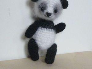 Вяжем маленькую панду. Ярмарка Мастеров - ручная работа, handmade.
