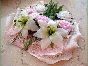Мастер класс по изготовлению мыльной лилии.. Ярмарка Мастеров - ручная работа, handmade.