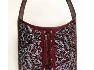 Декорирование сумки объемным гибким орнаментом. Ярмарка Мастеров - ручная работа, handmade.