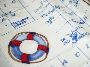 Морской стиль в интерьере. Ткань Парус. Ярмарка Мастеров - ручная работа, handmade.