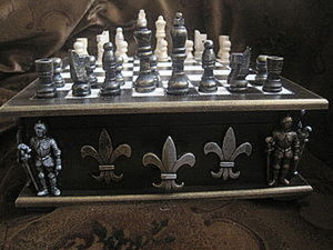 """Мк """"Шкатулка под шахматы"""". Ярмарка Мастеров - ручная работа, handmade."""