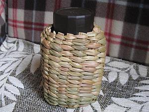 Плетем камышовый футляр для банки. Ярмарка Мастеров - ручная работа, handmade.